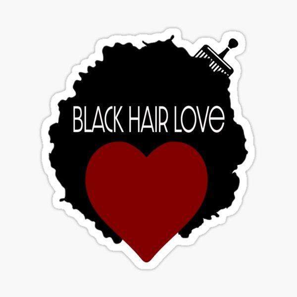 Black Hair Love Sticker