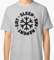 Eat Sleep Ski Repeat Classic T-Shirt