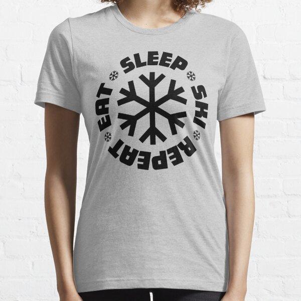 Eat Sleep Ski Repeat Essential T-Shirt
