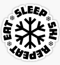 Eat Sleep Ski Repeat Sticker