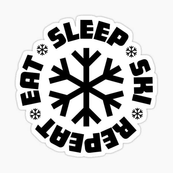 Eat Sleep Ski Repeat Pegatina