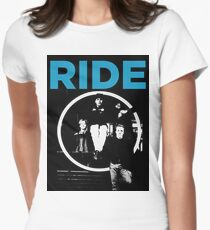 Ride - band T shirt (1992) Women's Fitted T-Shirt
