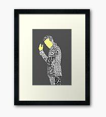 Jim Moriarty Typography Art Framed Print