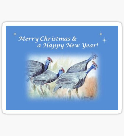 Merry Christmas & a Happy New Year! Sticker