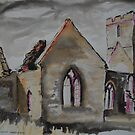 'Old Llanwarne Church, Herefordshire' by Martin Williamson (©cobbybrook)
