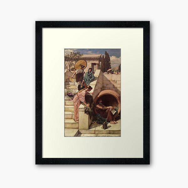Diogenes - John William Waterhouse Framed Art Print