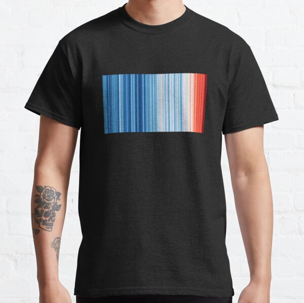 Climate Change & Global Warming Temperature Stripes Classic T-Shirt