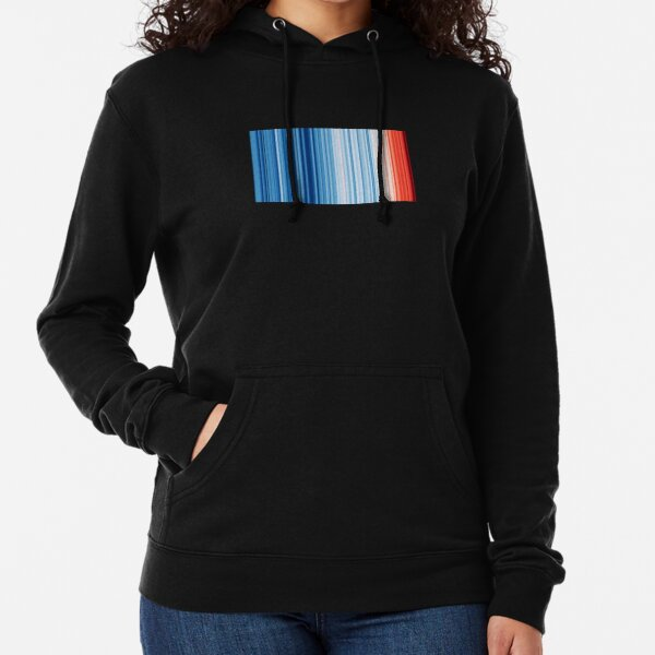 Climate Change & Global Warming Temperature Stripes Lightweight Hoodie