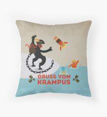 Gruss vom Krampus III Throw Pillow