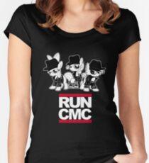 RUN CMC T-shirt (black) Women's Fitted Scoop T-Shirt