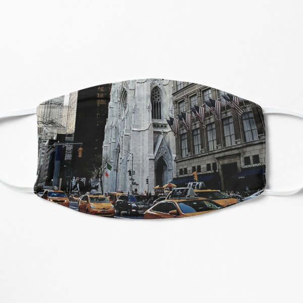 St Patrick's Cathedral New York City Flat Mask