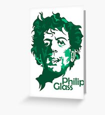 Philip Glass Greeting Card