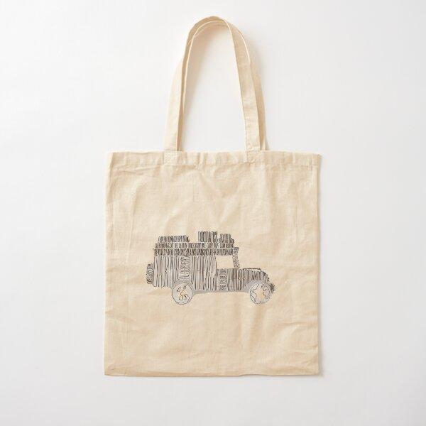 Artsy Sketchy Cotton Tote Bag