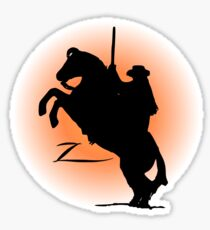 zorro t-shirt Sticker