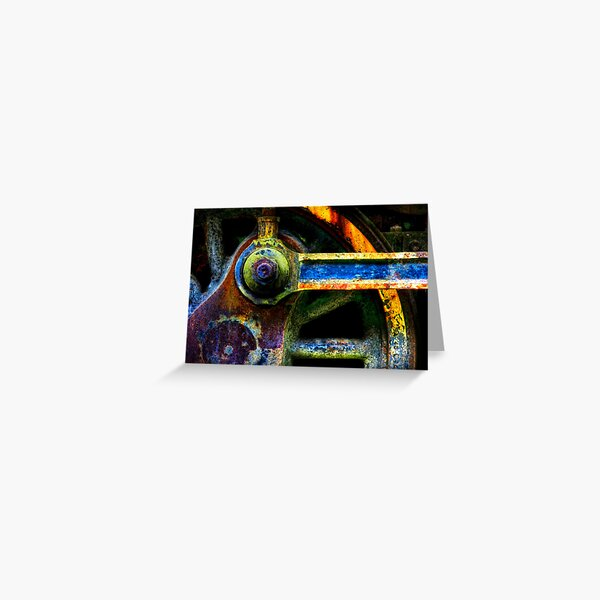 Colors Of The Train Wheel Greeting Card