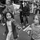 Young Demonstrators by Andrew  Makowiecki