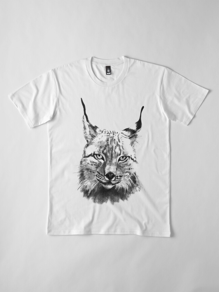 Alternative Ansicht von Luchs, Biosphärengebiet, Wild, sw Premium T-Shirt
