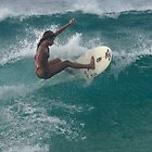 Surfing The North Shore by Bob Christopher
