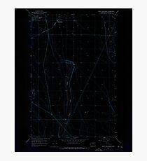 USGS Topo Map Washington State WA Grant Orchards 241396 1956 24000 Inverted Photographic Print