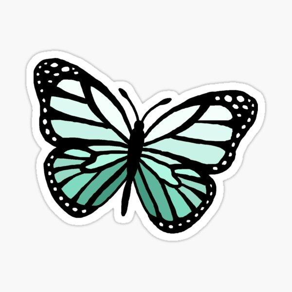 mint green monarch Sticker