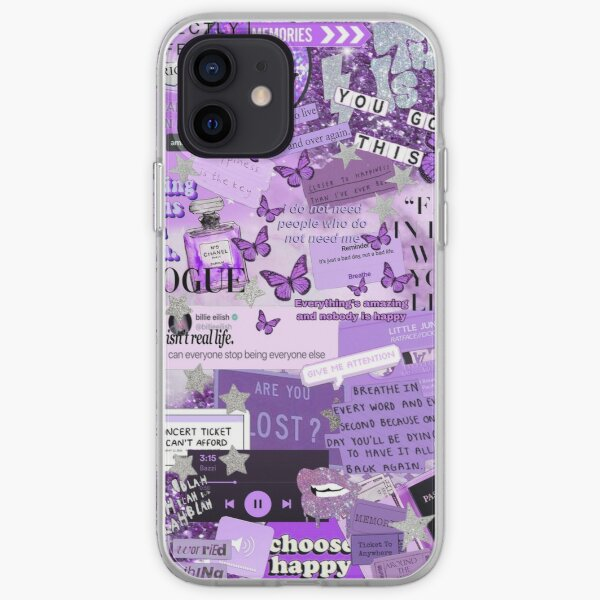 Purple Aesthetic Collage  iPhone Soft Case