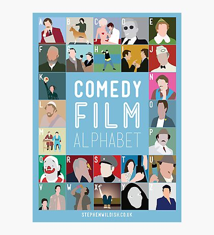 Comedy Film Alphabet Photographic Print