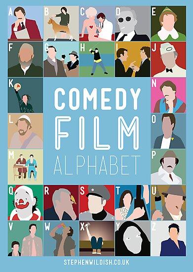 Comedy Film Alphabet by Stephen Wildish