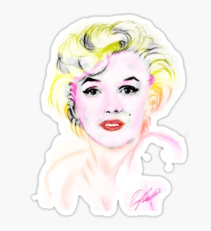 marilyn monroe t-shirt Sticker