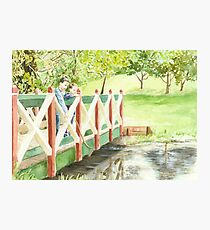 Playing Pooh Sticks Photographic Print