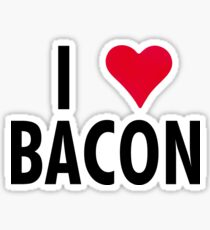 I Heart Bacon!! Sticker