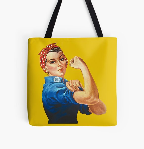 Rosie the Riveter All Over Print Tote Bag