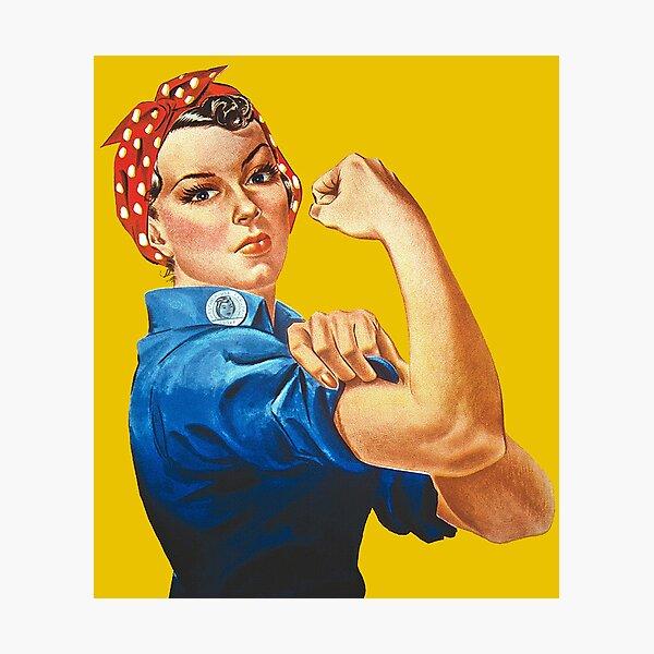 Rosie the Riveter Photographic Print
