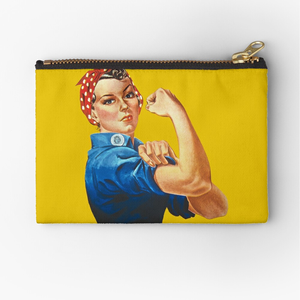 Rosie the Riveter Zipper Pouch