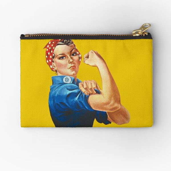 Rosie the Riveter Zipper Pouch