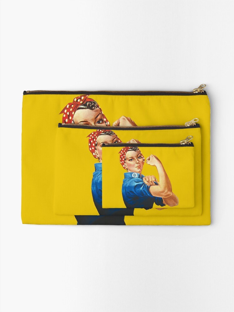 Alternate view of Rosie the Riveter Zipper Pouch