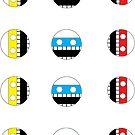 Sticker Sheet: Comics Face by Ive Sorocuk