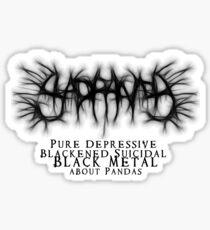 SAD PANDA STICKER - Pure Depressive Blackened Suicidal Black Metal... Sticker