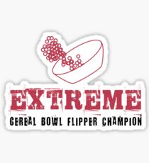 Extreme Cereal Bowl Flipper Champion Sticker