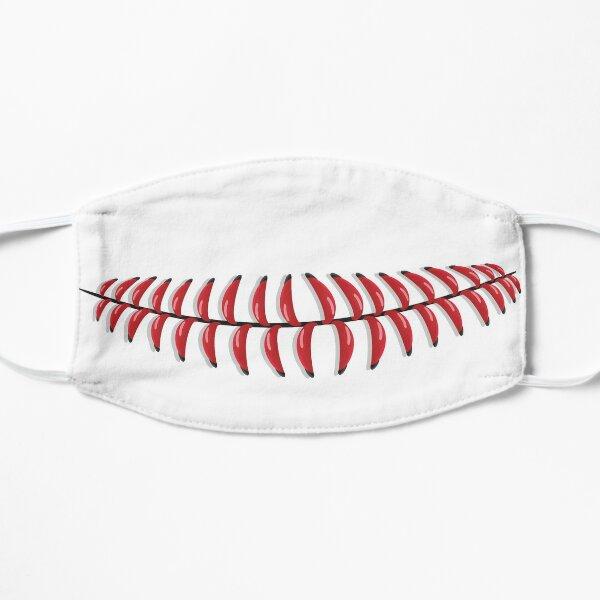 Baseball Stitches Mouth Mask Design, Artwork, Vector, Graphic Flat Mask