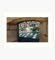 Dubrovnik Through the Wall Art Print