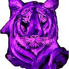 Purple tiger T SHIRT/STICKER by Shoshonan