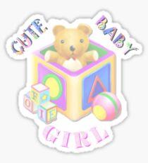 Cute Baby Girl - Kids Tshirt Sticker