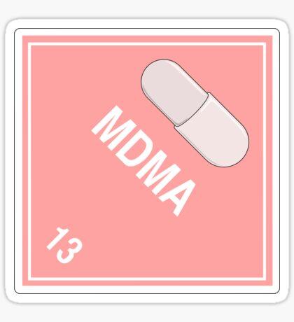 MDMA: Hazardous! Sticker