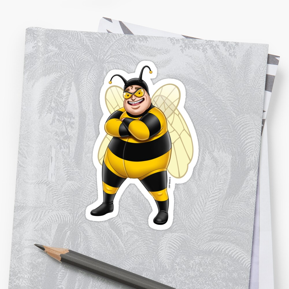 Quot Superheroes Bee Boy Quot Sticker By Gerbart Redbubble