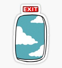 Emergency exit  Sticker