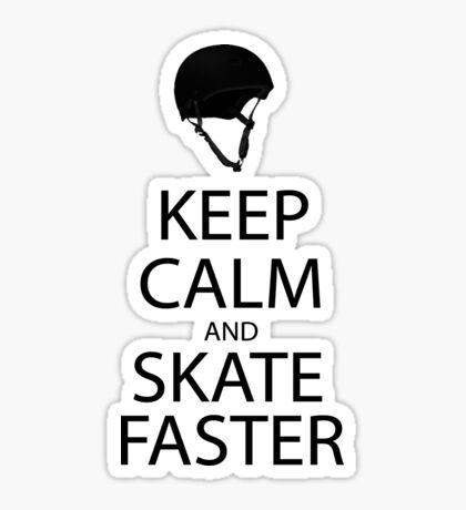 keep calm and skate sticker Sticker