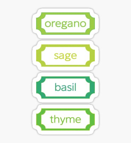 herb labels Sticker