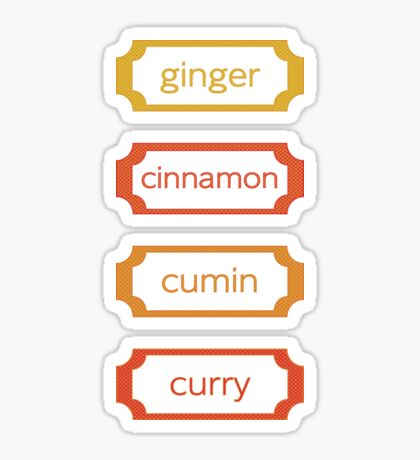 spice labels Sticker