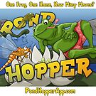 Pond Hopper Square Sticker by shutterfool
