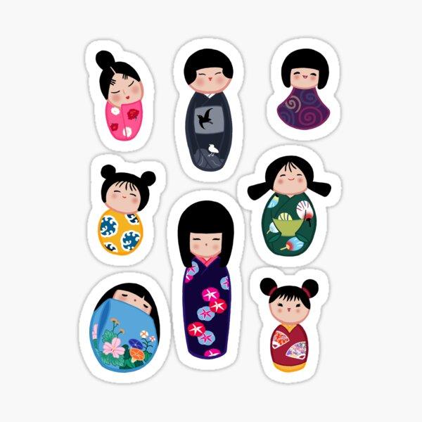 Kokeshi stickers 2 Sticker